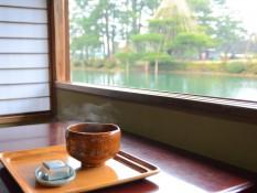 霞ヶ池と抹茶