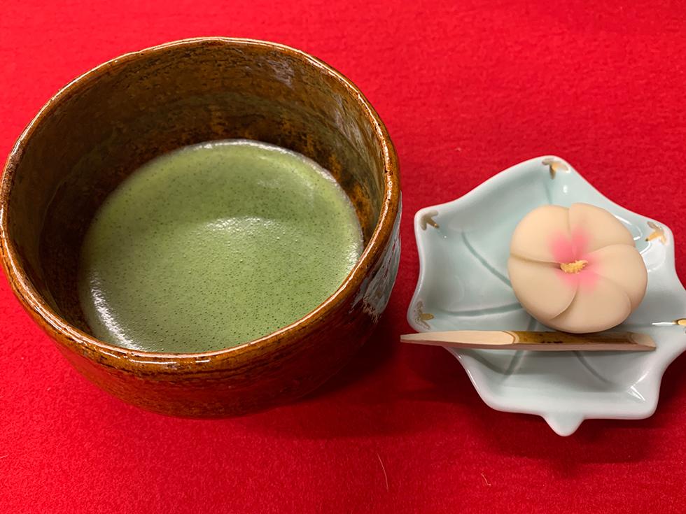 三芳庵の抹茶セット
