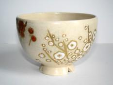 紅白梅ノ絵 茶碗